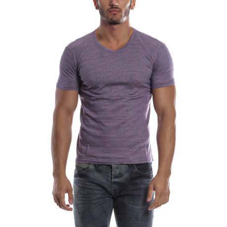 Textured T-Shirt // Purple
