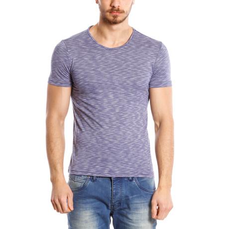 Textured T-Shirt // Navy