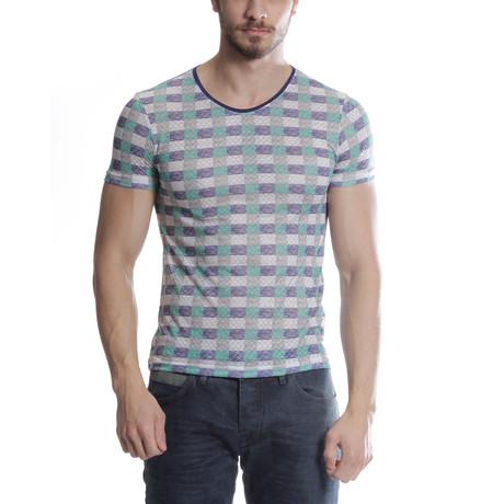 Cross-Stripe T-Shirt // Green