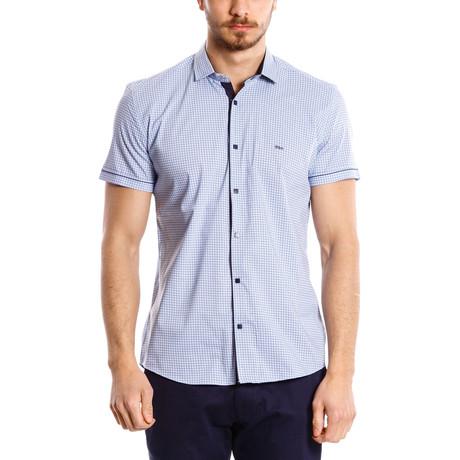 Short-Sleeve Button Up // Blue