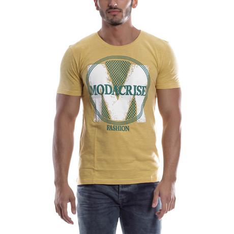 Graphic T-Shirt // Yellow + White