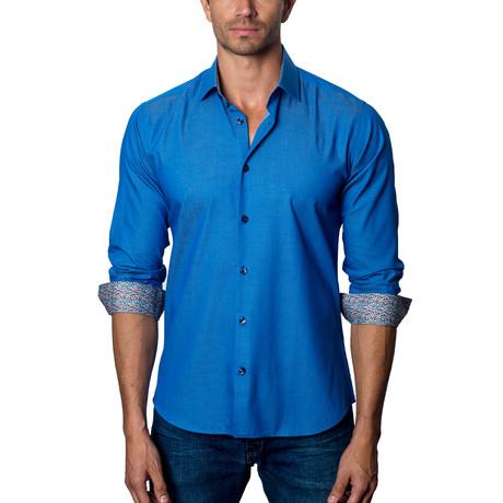 Woven Button-Up // Dark Blue (S)