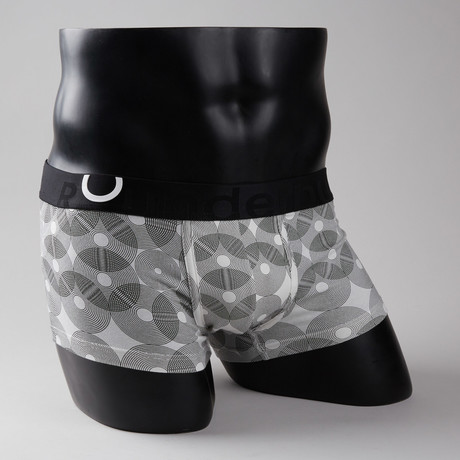 Geometric Lift Trunk // Black + White (S)