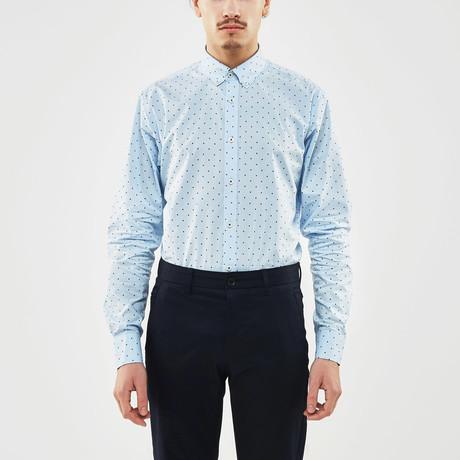 Mini Dot Slim Fit Shirt // Blue + Black (S)