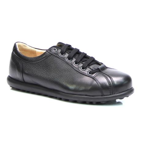 Lace-Up Sneaker // Antique Black
