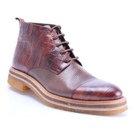 Crocodile Cap-Toe Chukka Boot // Tobaccoo