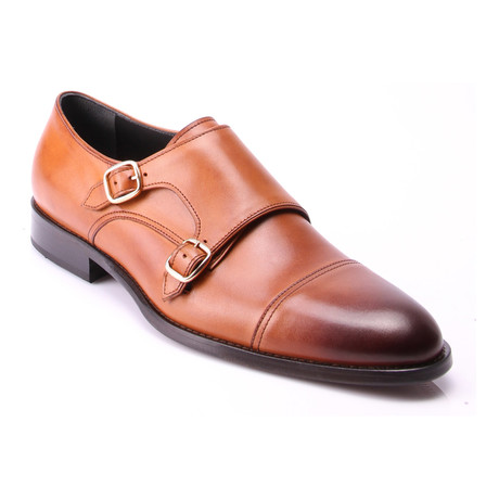Cap-Toe Double Monkstrap // Tobacco