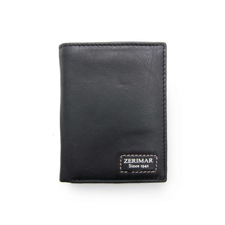 Alejandro Tri-Fold Wallet // Black