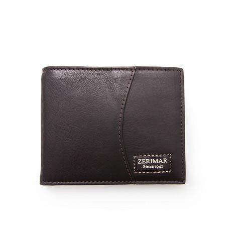 Santiago Bi-Fold Wallet // Brown