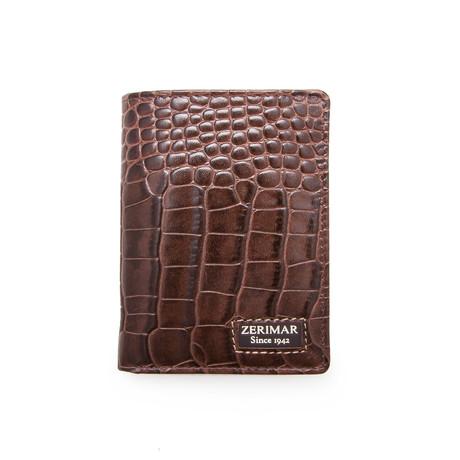 Miguel Croc Wallet // Brown