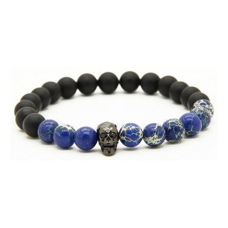 Stone // Blue Marble with Skull