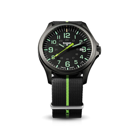 Traser Officer Pro Gun Metal Black Lime Quartz // 107426