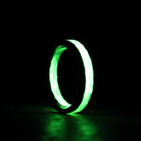 Apollo Carbon Fiber Ring // Emerald