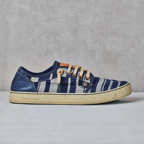 Heisei Striped Sneaker // Mood Blue