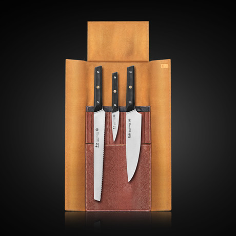 TG Series // 3-Piece Knife Leather Roll Set