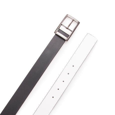 Rodriguez Reversible Belt // Black + White (Size 95 cm)