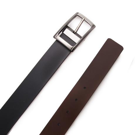 Rodriguez Reversible Belt // Black + Dark Brown (Size 95 cm)