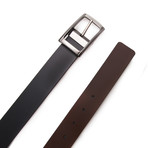Rodriguez Reversible Belt // Black + Dark Brown (Size 95 cm)