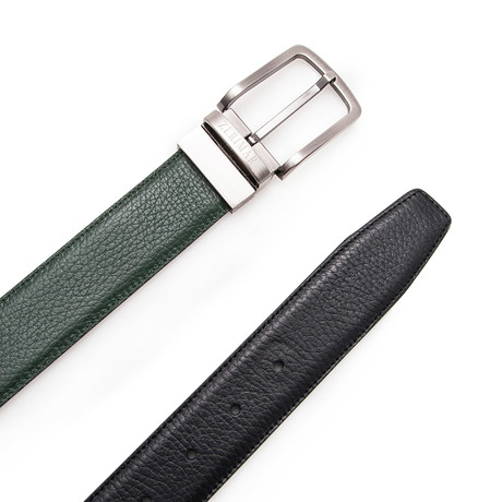 Sanz Reversible Belt // Black + Green (Size 95 cm)
