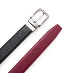Sanz Reversible Belt // Black + Bordeaux (Size 95 cm)