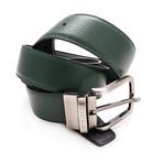 Sanz Reversible Belt // Black + Green (Size 95 cm)