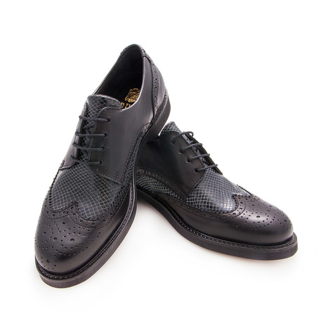 Fernando Wingtip Casual Shoe // Black (Euro: 40)