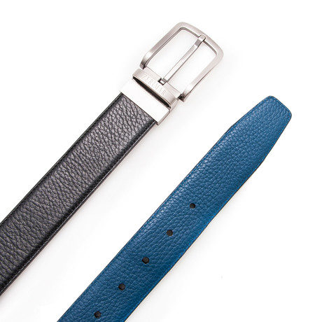 Sanz Reversible Belt // Black + Blue (Size 95 cm)