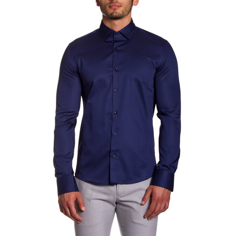 Sheen Button-Up // Navy