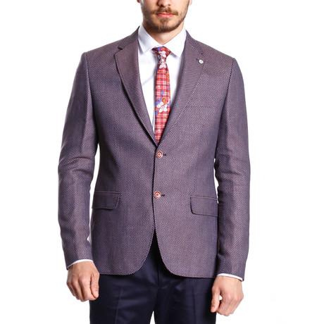 Textured Sport Coat // Burgundy