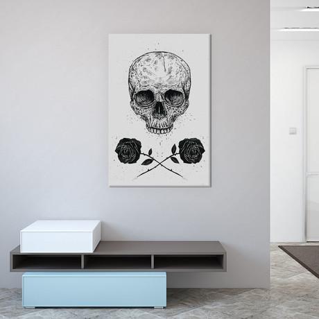 """Skull N Roses (18""""W x 26""""H x 0.75""""D)"""
