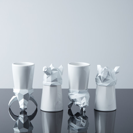 Animal Shot Glasses // White Bundle