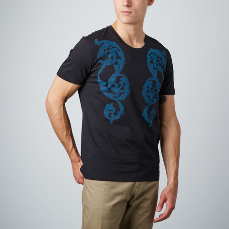 Mosaic Floral Graphic Tee // Black