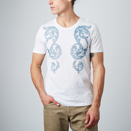Mosaic Floral Graphic Tee // White (S)
