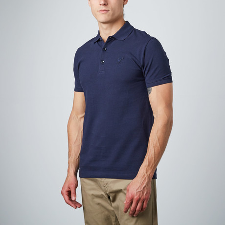 Patch Logo Polo // Navy (S)