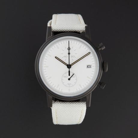 Undone Modern White Chronograph Quartz // UND-URB-MOD-WHT-PVD