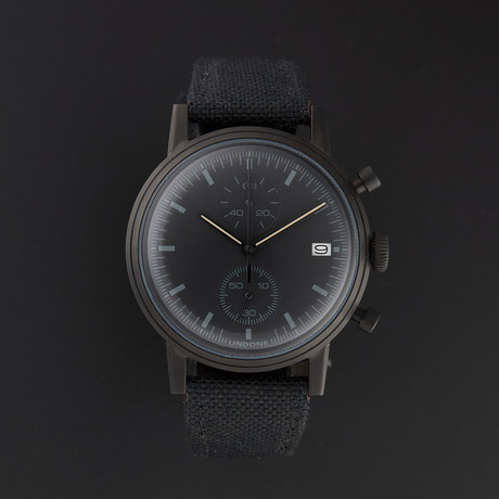 Undone Modern Black Chronograph Quartz // UND-URB-MOD-BLK-PVD
