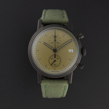 Undone Modern Olive Chronograph Quartz // UND-URB-MOD-OLIV-PVD