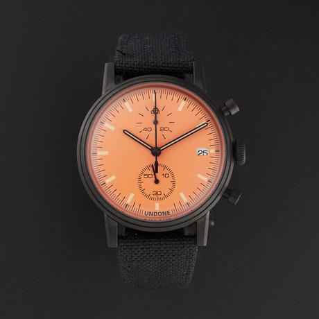 Undone Modern Orange Chronograph Quartz // UND-URB-MOD-ORG-PVD