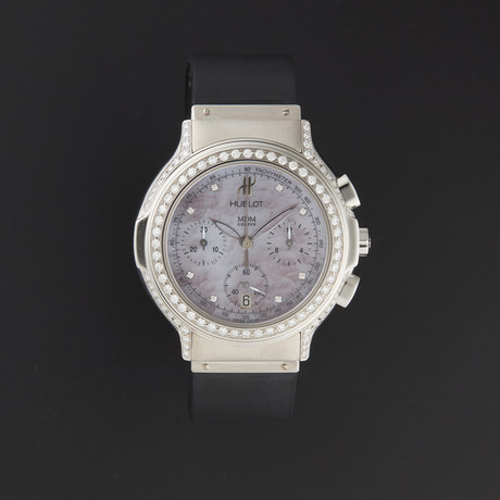 Hublot Midsize Chronograph Diamond Quartz // 1640.844M.1.024 // Pre-Owned