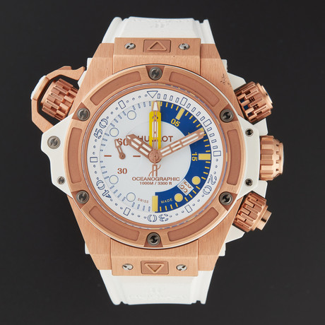 Hublot King Power Oceanographic Monaco Automatic // 732.OE.2180.RW // New