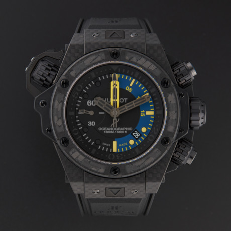 Hublot King Power Oceanograph Carbon Fiber Chronograph Automatic // Limited Edition // 732.QX.1140.RX // New
