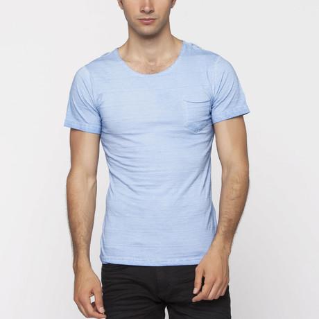X-Ram-L'Uomo // Satyr Slim Fit T-Shirt // Blue