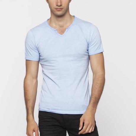 X-Ram-L'Uomo // Astomi Slim Fit T-Shirt // Blue