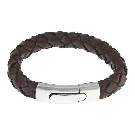 Round Hand-Braided Bracelet // Brown