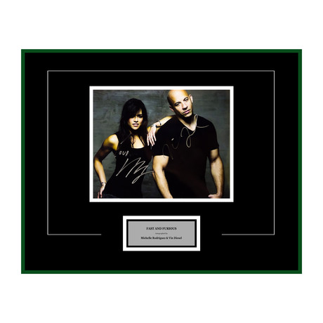 Signed Artist Series // Michelle Rodriguez + Vin Diesel // Fast & Furious