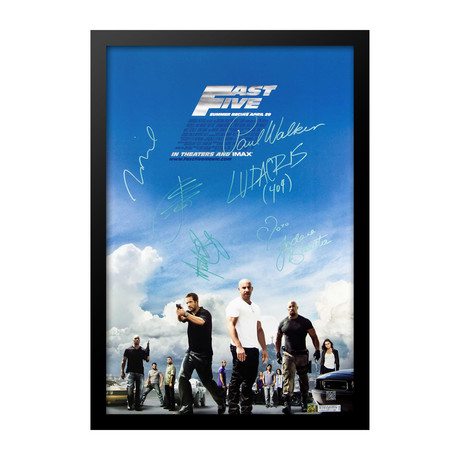 Cast Signed Movie Poster // Fast 5