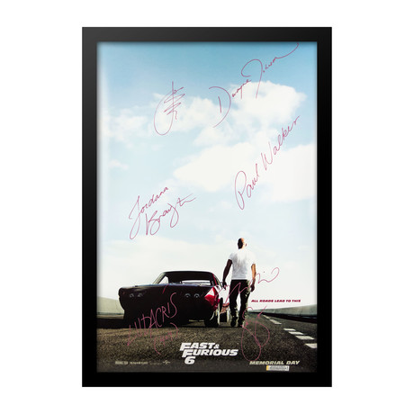 Cast Signed Movie Poster // Fast & Furious 6
