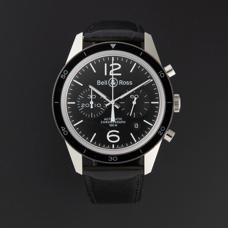 Bell & Ross Vintage Chronograph Automatic // BRV126-BL-BE/SCA // Store Display