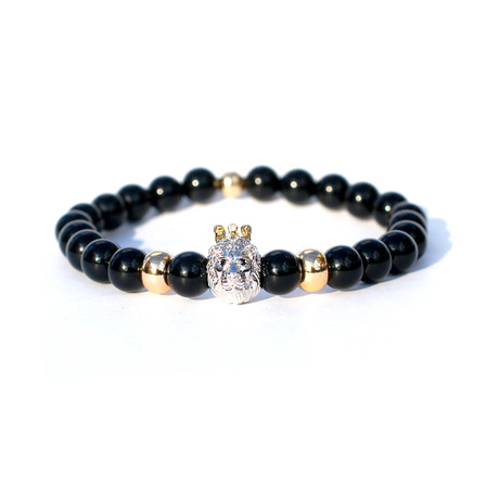 King of The Jungle Bracelet // Black + Gold + Silver