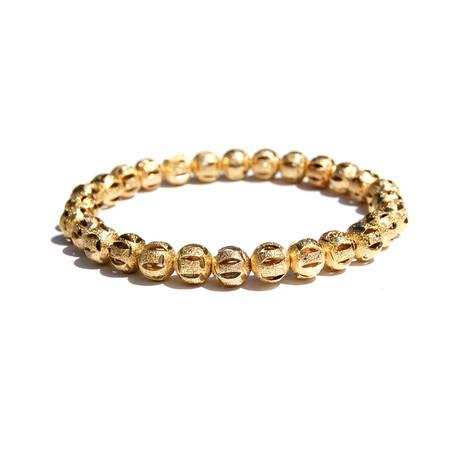 Stardust Gold Beaded Bracelet // Gold